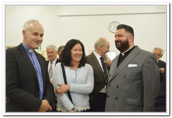 Rev. Dan Carmichael with Mr & Mrs Mark Johnstone