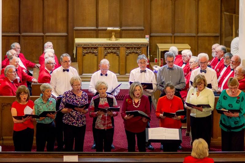 Lenzie Old Parish Church Choir with Kirkintilloch Male Voice Choir in the Background
