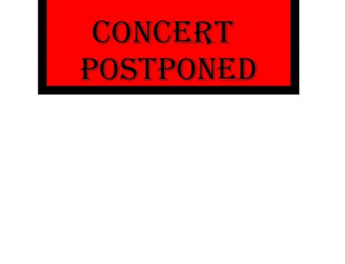 Time Out Concert Postponed